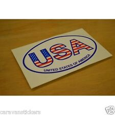 Americana 'USA' Oval Car Caravan Sticker Decal Graphic - SINGLE