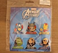 Disney Pin Collection Marvel Avengers Assemble 6 Pin Booster Set on Card