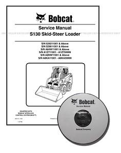 Bobcat S130 Skid Steer Loader Workshop Service Manual CD + Download 6904121