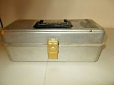 Vintage Umco 101A Aluminum Fishing Tackle Box Full of Lures, Jigs and More