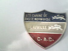 Plaque ancienne société canine de Basse Normandie Deauville chien dressage lof