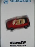 Wiking/VOLKSWAGEN (25a) VW Golf III Cabriolet (1993) in rot 1:87/H0 NEU/OVP