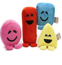 "NEW 5"" Official CBeebies Mister Mr Maker Kids Set of 4 Plush Soft Toys Gift"