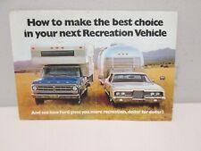 1971 Ford Recreation Vehicle Brochure Galaxie Pickup Ranchero and more