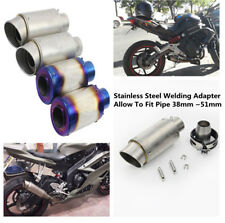 51MM Stainless Steel Motorcycle Street Bike ATV Muffler Exhaust Pipe Tip Tail