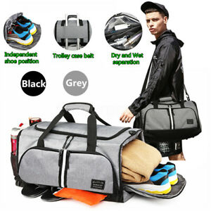 Men Oxford Gym Bag Large Capacity Waterproof Duffle Sports Travel Tote