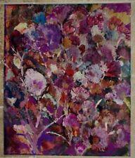 Grande acrylique sur papier Marie Fleurs