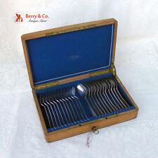 Dutch Dessert Set 12 Boxed Forks Spoons 833 Silver 1895 No Monograms