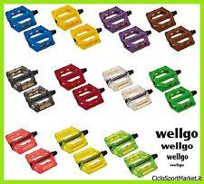 Pedales Resina Plástico WellGo para bicicleta Fijado/BMX/MTB - TODOS COLORES