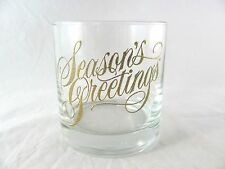 12 Seasons Greetings Rocks Glass Tumblers, gold, barware, Christmas