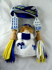 """Delft Blue and White 3.5"""" Canal Houses Holland curtain tie backs tassels +Angel"""