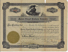 Indiana 1924 Marion Forged Products Company Stock Certificate