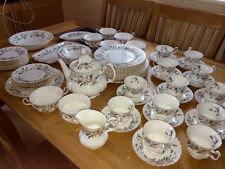 ROYAL ALBERT ' BRIGADOON '  TEA SET AND TABLEWARE - ENGLISH BONE CHINA