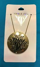 One Claire's Katy Perry Prism Collection Large Gold Medallion Necklace New!