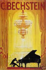 Bechstein Pianos Poster 1920 Vintage 12x8 Inch Reprint