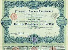 Africa Algeria Bond 1928 Agricultural Financial Co 100fr Uncancelled coup Deco