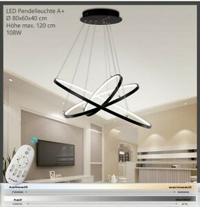 LED Hanging Light Remote Control Light Colour Brightness Dimmable Adjustable A+