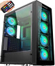 MUSETEX ATX Mid-Tower PC Gaming Case with 6 PCS x ARGB Fans & 2 PCS x USB3.0