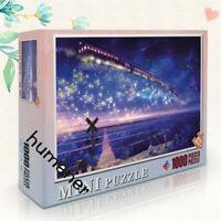 1000 Pieces Adult Mini Puzzles Difficult Noctilucent Growups Puzzle Star Train
