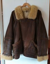 Vintage Genuine Leather and Sheepskin Flying Style Jacket