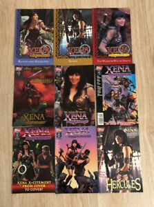 Xena The Warrior Princess RARE Comic Book LOT of 9 w/ Fan Club BOX Mint