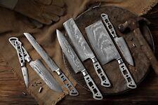 KATSURA Japanese Damascus AUS 10 woodworker Chef' knife kit blank Set, 7pcs