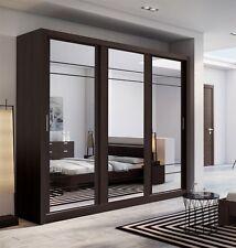 Brand New Modern Bedroom 3 Sliding Door Mirror Wardrobe ARTI 2 250cm in Wenge