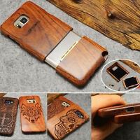 Natural Wooden Wood Bamboo Case Cover For Samsung Galaxy S8/S7/S6 Edge/Note 4/5