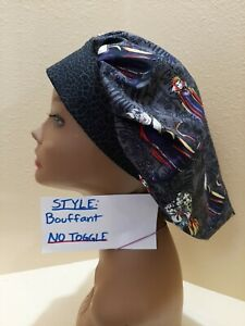 Disney Villains Women's Bouffant Surgical Scrub Hat/Cap Handmade