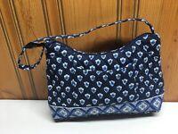 Vera Bradley Nantucket Navy Small Handbag Purse Blue
