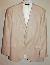 SAVILE ROW SPORT COAT JACKET BLAZER SILK / WOOL TAN Sz 44R  $340 MINT
