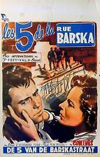 FIVE BOYS FROM BARSKA STREET 1953 Aleksander Ford Poland BELGIAN POSTER