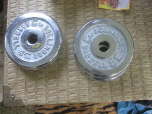 Lot Of 4 - 3lb Bollinger Barbell Weight Plates Weights Chrome threaded