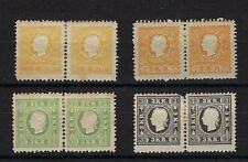 Austria Michel 10ND (yellow), 10ND (orange), 11ND & 12ND Second Issue Reprints