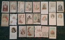 22 Images Religieuses - Années 1880 / 1890 - Images Pieuses - Religion -