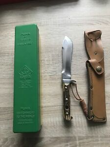 """PUMA  """" White Hunter """"  Puma 6377 Messer Knife Jagdmesser Aus 60-70 GER Jahren"""