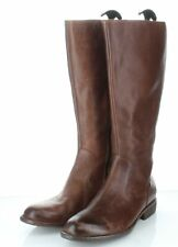 O50 NEW $198 Women's Sz 10 M Born North Leather Zip Riding Boot In Cognac