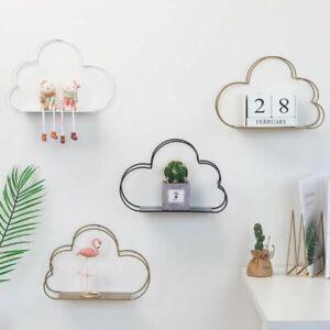 Wall Mounted Floating Shelf Metal Iron Modern Cloud Design Rack Home Decoration
