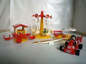 Playmobil Kinderkarussell + Playmobil Teile aus Spielplatz/Spielhaus + Rennauto