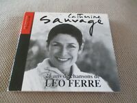 "RARE! CD DIGIPACK ""CATHERINE SAUVAGE : 25 ANS DE CHANSONS DE LEO FERRE"""