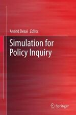 Simulation for Policy Inquiry (2012, Hardcover)