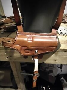 1911 Shoulder Holster with double magazine brown leather