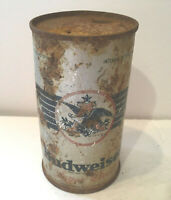 Beer Can Budweiser Flat Top Steel EMPTY