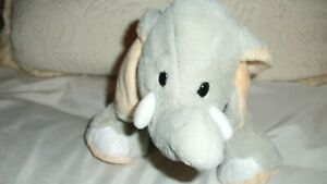 Ganz Webkinz HM167 Velvety Elephant Plush Gray Stuffed Animal Tusks Soft Toy