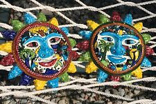 Jesus Roman Vintage Hand Painted Pottery Smiling Sun Wallhangings Gift