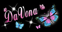 """Butterflies Decal Sticker Personalize Gifts Name Or Text In Any Color 3.5"""" x 6"""""""