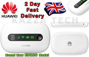 12GB 12 Months HUAWEI E5220 WHITE HSPA+ Mobile MIFI WIFI 3G 4G Wireless Modem