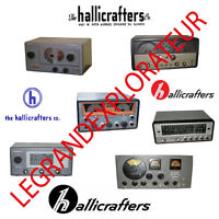 Ultimate Hallicrafters Operation Repair Service manual  Schematics   500 on DVD