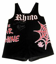 WWE TNA ECW RHINO RING WORN SINGLET SIGNED W/ PIC PROOF 3