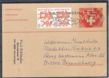 Schweiz Helvetia 1983 Ganzsache Zusatz Sonderstempel KREUZLINGEN BRAUNSCHWEIG